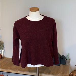 Madewell Crop Top short Merlot Sweater size large
